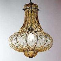 Handmade hanging light DOGE  amber 53 cm