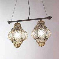 Handmade CLASSIC hanging light 2 bulb
