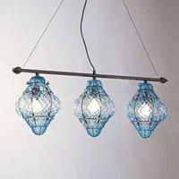Handmade CLASSIC hanging light  3 bulb