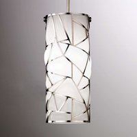 White Orione hanging light in an artistic design