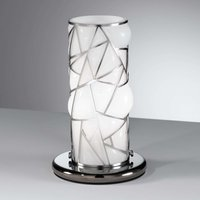 Orione table lamp with stainless steel  white