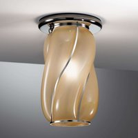 Amber coloured Orione ceiling light  striped