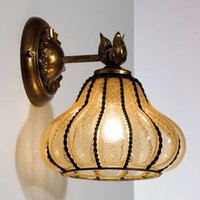 Carro   wall light in bronze and amber