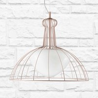 Lab hanging light with double lampshade