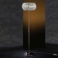 Floor lamp DIAMOND with crystals