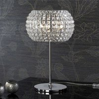 Table lamp DIAMOND with crystals  33 cm