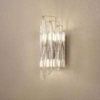 Sparkling crystal glass wall light Manacor