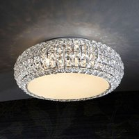 Sparkling  round diamond ceiling light  40 cm