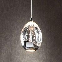 Single light LED hanging light Rocio in chrome