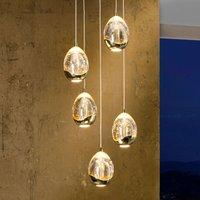 5 light  gold coloured LED hanging light Rocio
