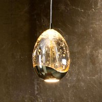 1 light LED hanging light Rocio in gold finish