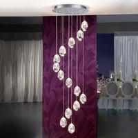 14 light LED hanging light Rocio in chrome finish