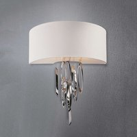 Designer wall light Domo   elegant chrome elements