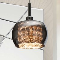 Arian glass hanging light  1 bulb