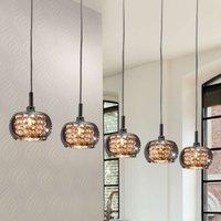 Arian glass hanging light  5 bulb
