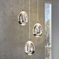 3 bulb LED hanging light Rocio in chrome