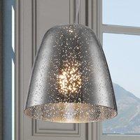 Glass hanging light Rasqua with chrome finish