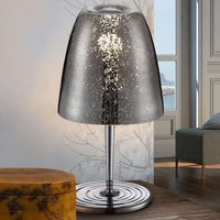Glass with chrome finish   Rasqua table lamp