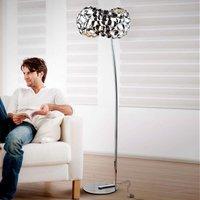 Narisa LED floor lamp  glossy chrome plated