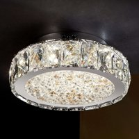 Dana   LED ceiling light with glass crystals
