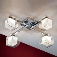 Cube   LED ceiling light  four double lampshades