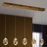 Rocio hanging lamp 5 bulb remote  gold  bar