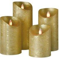 Shine LED candle  set of 4    7 5 cm  gold