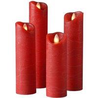 Shine LED candle  set of 4    5 cm  red
