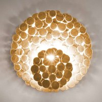 Unusual Tresor wall light in gold