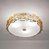 Glamour   designer ceiling light in gold