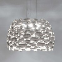 Nickel coloured Anish LED hanging light   44 cm