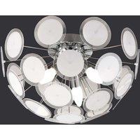 Individual ceiling light Circle  white chrome