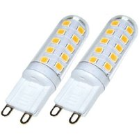 LED bi pin bulb G9 3 W in a dual pack  dimmable