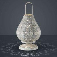 Antique grey  oriental table lamp Jasmin