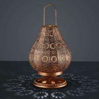 Oriental table lamp Jasmin  antique copper