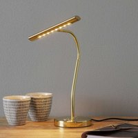 Brass coloured Curtis LED table lamp