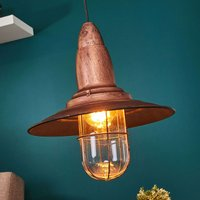 Fisherman   pendant light w  antique copper finish
