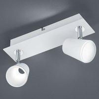 White and chrome LED spotlight Narcos   2 bulbs