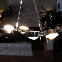 Hanging light PUK CEILING  4 bulb chrome 80 cm