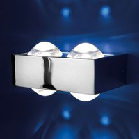 The Focus 150 wall light has 4 lenses  chrome