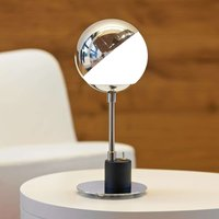 Designer table lamp with hemisphere