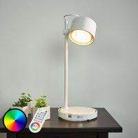 Glossy white LED iDual table lamp Jasmine