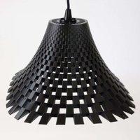 Flechtwerk designer hanging lamp in funnel shape