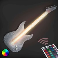 Rocky Guitar LED wall light made by 3D printer