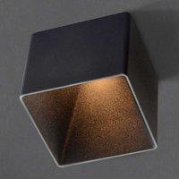 GF design Blocky recessed lamp IP54 black 3 000 K
