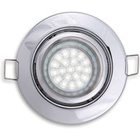 Pivotable   rotatable ceiling light in chrome