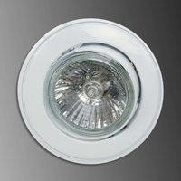 Tom recessed light with tension relief  white