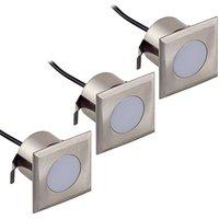 N rnberg III recessed LED lights  square  3 set