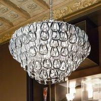 Minigiogali crystal glass hanging light  chrome