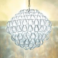 Giogali crystal glass hanging light  50 cm  white